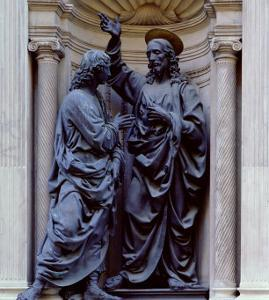 The Doubting Thomas by Andrea del Verrocchio