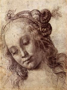 Woman Looking Down by Andrea del Verrocchio