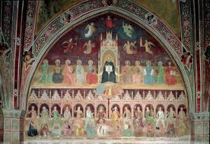 The Triumph of Catholic Doctrine, Personified in St. Thomas Aquinas by Andrea di Bonaiuto