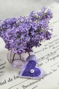 Bouquet, Lilac, Blossoms, Mauve, Violet, Vase, Spring, Heart by Andrea Haase
