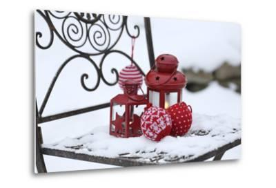 Chair in the Snow with Lantern, Balls from Cord Material