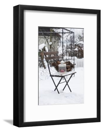 Chair in the Snow with Wintry Still Life