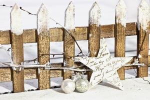 Deko Fence with Star by Andrea Haase