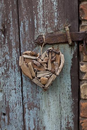 Heart Made of Driftwood, Wood, Door