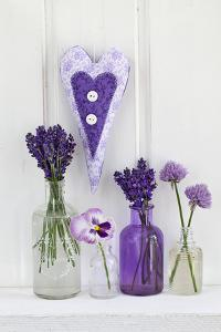 Lavender, Blossoms, Pansies, Chive Blossoms, Heart by Andrea Haase