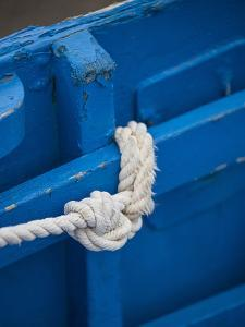 Rope, Boat, Blue, Wood, Up, Detail by Andrea Haase