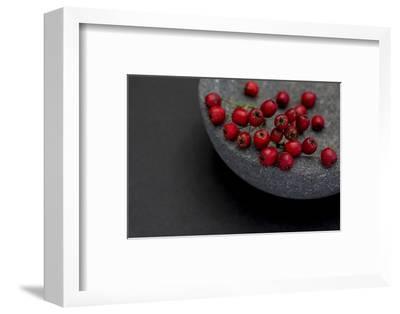 Still Life, Berry, Red, Bowl, Gray, Black, Still Life
