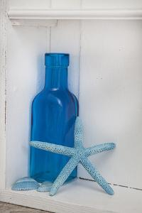 Still Life, Blue, Turquoise, Bottle, Mussels, Starfish by Andrea Haase