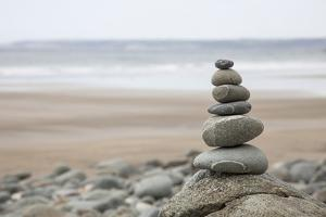 Stone Tower, Balance, Pebble Stones, Beach by Andrea Haase