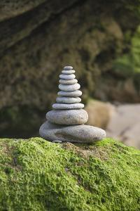 Stone Tower, Pebbles, Moss by Andrea Haase