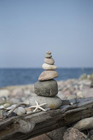 Stone Tower, Sea, Beach, Starfish