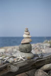 Stone Tower, Sea, Beach, Starfish by Andrea Haase