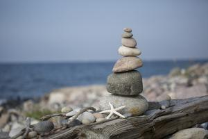 Stone Tower, Sea, Beach, Starfish by Andrea Haase