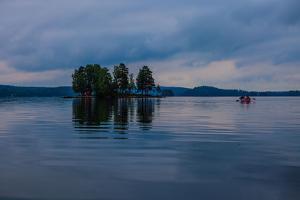 Canoe tour at dusk, Lelang Lake, Götaland, Sweden by Andrea Lang