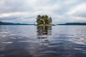 Lonesome landscape at Lelang Lake, Dalsland, Sweden by Andrea Lang