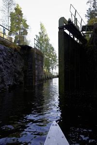 Sluice at Lennartsfors in the Dalsland Canal, on Lelång Lake, Dalsland, Värmlands län, Sweden by Andrea Lang