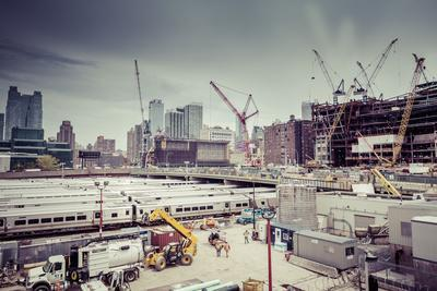 Streetview, construction site, Chelsea, Art District, Manhattan, New York, USA