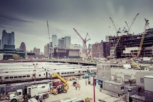 Streetview, construction site, Chelsea, Art District, Manhattan, New York, USA by Andrea Lang