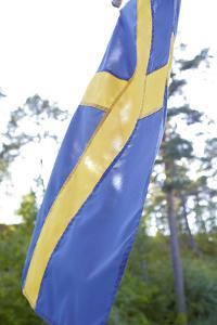 Swedish flag, close up by Andrea Lang