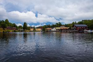 Town view, Gustavsfors, on Lelång Lake, Dalsland, Sweden by Andrea Lang