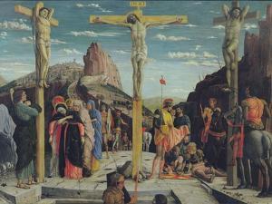 Calvary, Central Predella Panel from the St. Zeno of Verona Altarpiece, 1456-60 by Andrea Mantegna