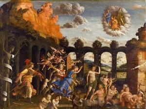 Minerva Expelling the Vices from the Garden of Virtue by Andrea Mantegna