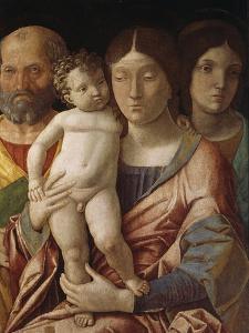 Sainte famille avec une sainte by Andrea Mantegna