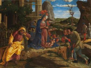 The Adoration of the Shepherds, c.1450 by Andrea Mantegna