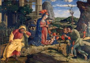 The Adoration of the Shepherds, C1450 by Andrea Mantegna
