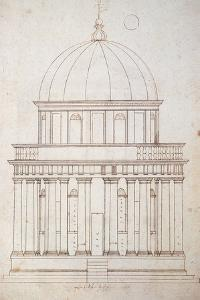 San Pietro in Montorio. the Tempietto Built by Donato Bramante (1444-1514). Drawing by Andrea Palla by Andrea Palladio
