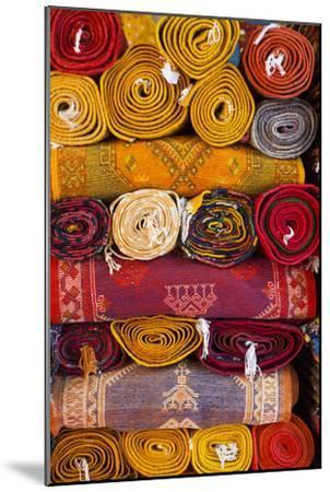 Morocco, Marrakech, Carpets in Market