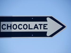 Street Sign That Says Chocolate in San Francisco, California by Andrea Sperling