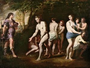 Diana and Her Nymphs Surprised by Actaeon by Andrea Vaccaro