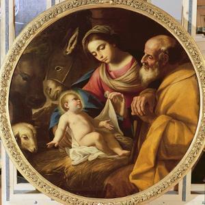 Holy Family (Tondo) by Andrea Vaccaro