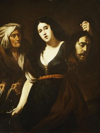 Judith Holding the Head of Holofernes, Accompanied by a Maidservant, C.1625-30