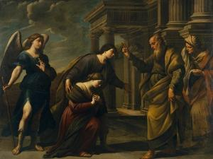 Raguel's Blessing of Her Daughter Sarah before Leaving Ecbatana with Tobias, C. 1640 by Andrea Vaccaro