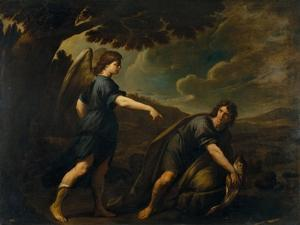 The Angel and Tobias with the Fish, C. 1640 by Andrea Vaccaro
