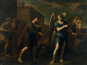 Tobias Meets the Archangel Raphael, C. 1640 by Andrea Vaccaro