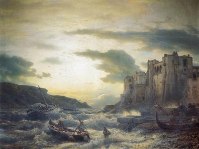Sunset after a Storm in Portovenere in the Gulf of La Spezia, 1857