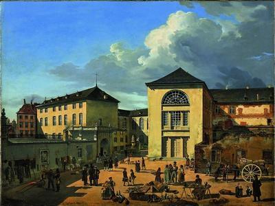 The Academy Courtyard (The Old Academy in Düsseldor), 1831