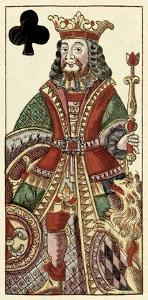 King of Clubs (Bauern Hochzeit Deck) by Andreas Benedictus Gobl