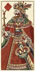 King of Diamonds (Bauern Hochzeit Deck) by Andreas Benedictus Gobl