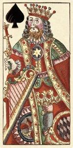 King of Spades (Bauern Hochzeit Deck) by Andreas Benedictus Gobl
