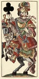Knight of Clubs (Bauern Hochzeit Deck) by Andreas Benedictus Gobl