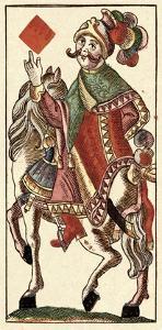 Knight of Diamonds (Bauern Hochzeit Deck) by Andreas Benedictus Gobl