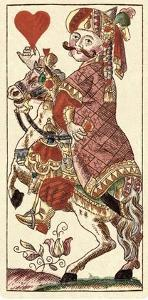 Knight of Hearts (Bauern Hochzeit Deck) by Andreas Benedictus Gobl
