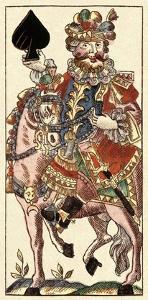 Knight of Spades (Bauern Hochzeit Deck) by Andreas Benedictus Gobl