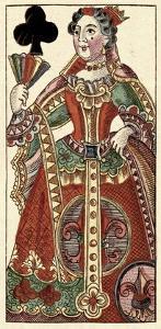 Queen of Clubs (Bauern Hochzeit Deck) by Andreas Benedictus Gobl