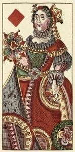 Queen of Diamonds (Bauern Hochzeit Deck) by Andreas Benedictus Gobl