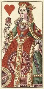 Queen of Hearts (Bauern Hochzeit Deck) by Andreas Benedictus Gobl